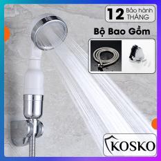 Vòi sen tăng áp, kệ nhà tắm dán tường loại lớn và thiết bị nhà tắm KOSKO cao cấp, hộp đựng giấy vệ sinh inox không han rỉ