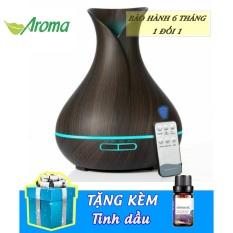 [ TẶNG TINH DẦU + ĐIỀU KHIỂN TỪ XA] Máy khuếch tán tinh dầu, máy xông tinh dầu siêu âm hoa tulip 550ml thay thế các loại đèn xông tinh dầu, đèn ngủ, máy phun sương tạo ẩm [AROMA]
