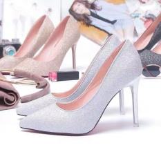 Giày cao gót nữ phủ kim sa lấp lánh cực sang trọng