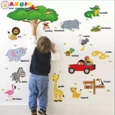 Decal dán tường cho bé đi vườn thú tiếng anh, Phát Triển Trí Tuệ Cho Bé Mầm Non 2 – 6 Tuổi, Đồ chơi gỗ – Đồ chơi trí tuệ – Đồ chơi thông minh cho trẻ, Shop Đồ Chơi Trẻ Em Thông Minh, An Toàn – AKOIN
