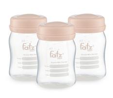 [HCM]Bình trữ sữa 150ml (bộ 3 bình) Fatzbaby FB0120NH