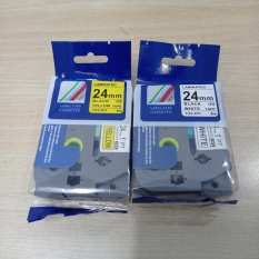 Bộ 2 băng nhãn Tz2- 24mm cho máy in Brother P-Touch