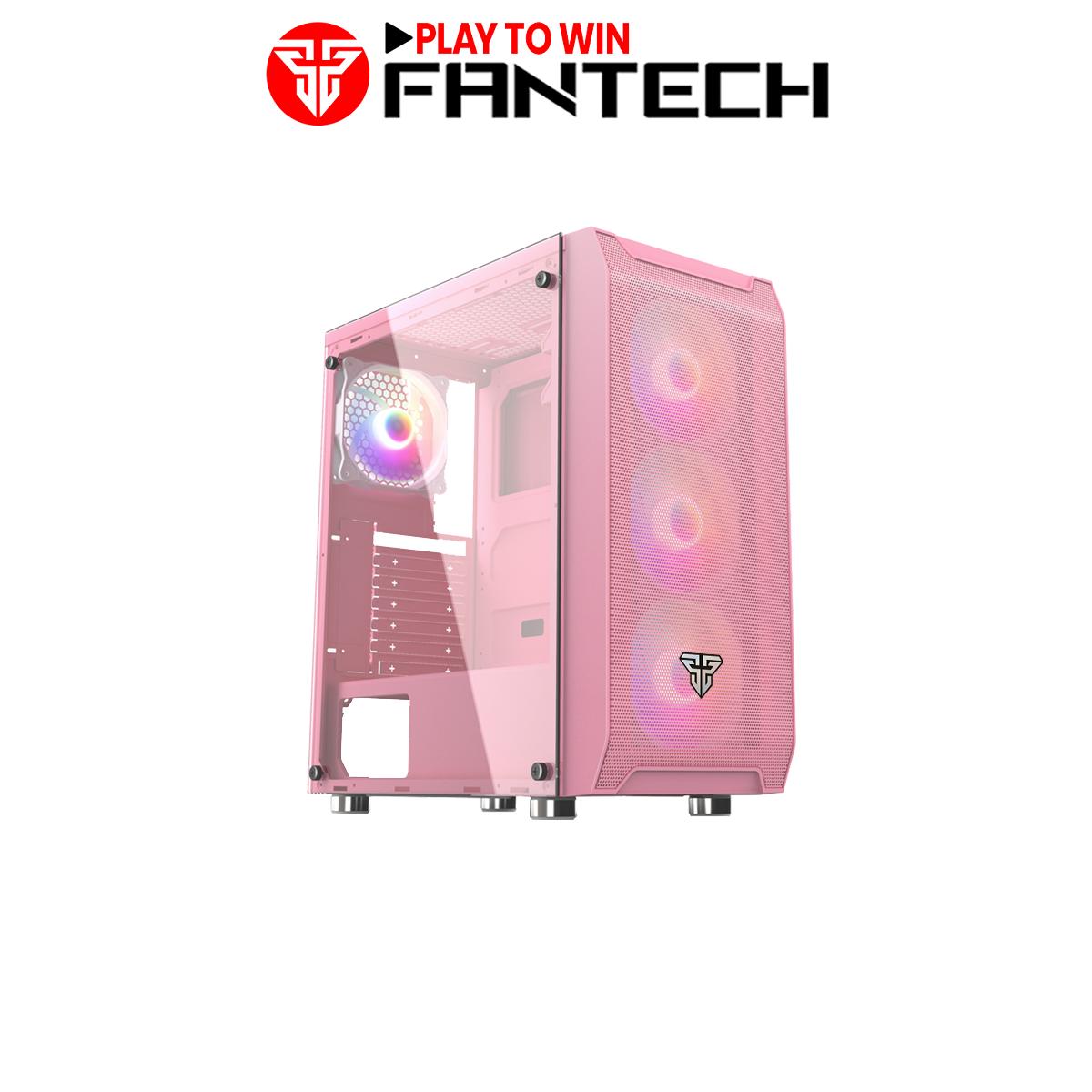 Vỏ Case Máy Tính Mặt Bên Kính Cường Lực FANTECH CG80 AERO Tặng Kèm 4 Quạt LED RGB – Hãng Phân Phối Chính Thức