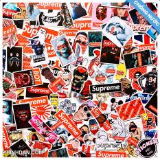 Sticker Supreme, Chủ Đề Thời Trang Đường Phố Mẫu Mới 2020, Bộ Hình Dán Decal Chất Lượng Cao, Chống Thấm Nước, Hình Ảnh Đa Dạng Độc Đáo, In Rõ Nét, Màu Sắc Đẹp