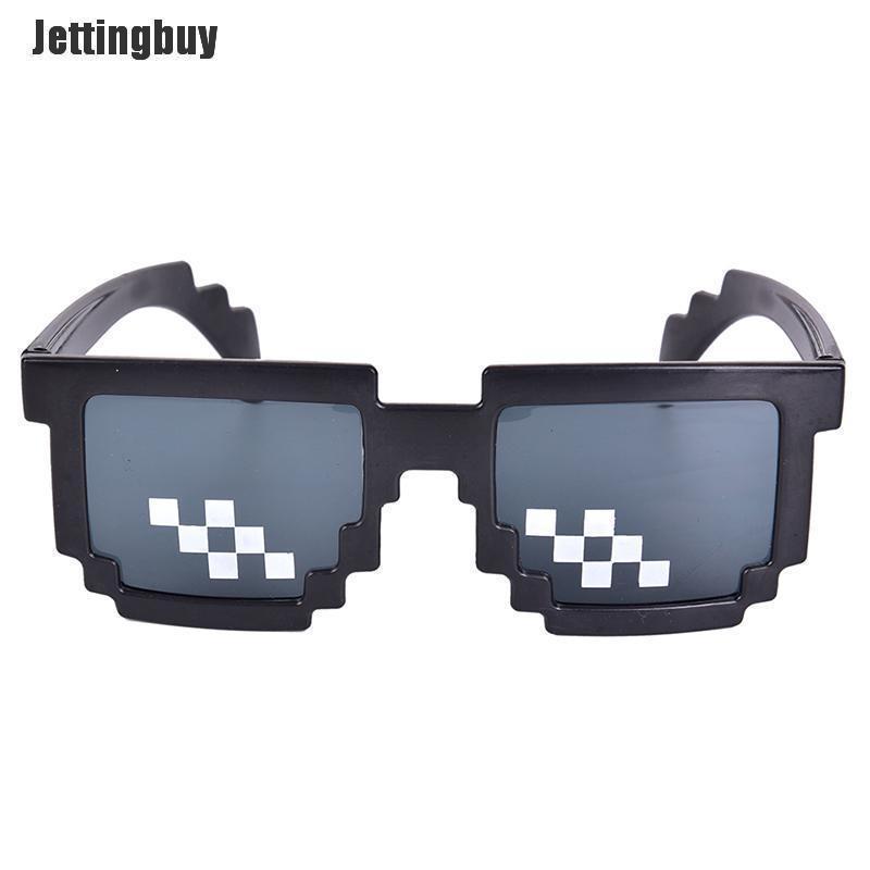 Kính râm Jettingbuy Pixelated khảm thug life thời trang cho nam và nữ, bảo vệ khỏi ánh nắng mặt trời...