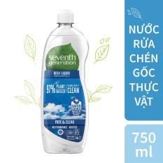 Nước rửa chén gốc thực vật Seventh Generation Free and Clear không mùi 750ml