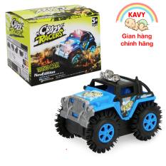 Đồ chơi ô tô xe Jeep chạy pin, nhựa nguyên sinh an toàn, chạy rất nhanh và khỏe (màu xanh)- KAVY