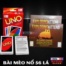 Bài UNO 108 Lá + Bộ Bài Mèo Nổ 56 Lá Kịch Tính – Exploding Kittens Card + UNO Cards