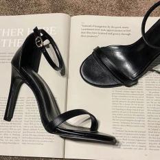 Giày Sandal Cao Gót 7cm Bít Gót Nữ Tính