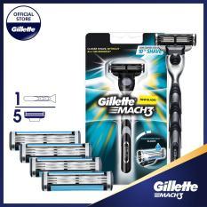 Combo dao cạo râu Gillette Mach3 Classic (kèm 4 lưỡi)