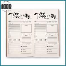 """Sổ tay planner """"Vui Mỗi Ngày"""" bìa cứng 21×11 to-do list, thời gian biểu, check list, nhắc việc, lịch hẹn"""