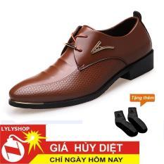 Giày Tây Công Sở Cao Cấp G18 + TẶNG NGAY 1 ĐÔI TẤT XUẤT NHẬT KHỬ MÙI CAO CẤP. Bảo hành uy tín bởi LYLYSHOP