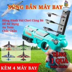 Đồ chơi sung phóng máy bay ch0 trẻ em , đồ chơi máy bắn máy bay lượn mô hình trẻ em