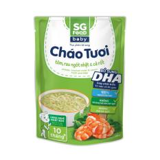 Cháo Tươi Baby Sài Gòn Food Tôm, Rau Ngót Nhật & Cà Rốt 240g