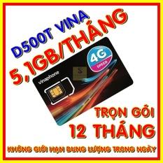 Sim 4G Vinaphone trọn gói 1 năm không nạp tiền – Sim 4G Vina D500T- Shop Sim Giá Rẻ