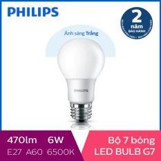 Bộ 7 Bóng đèn Philips LED Gen7 6W 6500K E27 A60 (Ánh sáng trắng)