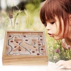 Hộp gỗ đồ chơi lăn bi mê cung thanh V4 bên