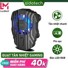 Quạt tản nhiệt điện thoại Memo Fl01 làm mát nhanh cho điện thoại gaming game thủ mobile pin 500mah có led rbg kích thước mini quạt tản nhiệt gaming cầm tay