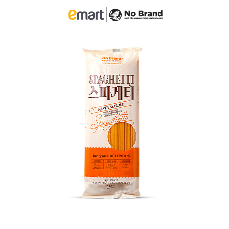 Mì Spaghetti Sợi Tròn No Brand Hàn Quốc Gói 1kg - Emart VN