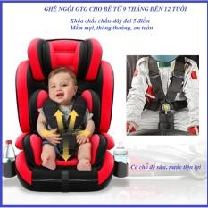 (CHỌN MÀU)Ghế ngồi oto cho bé- Ghế ngồi oto an toàn cho bé có chỗ đựng bình sữa và nước bên cạnh, Ghế ngồi oto cho bé từ 9 tháng đến 12 tuổi