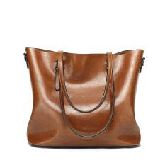 [XẢ KHO 3 NGÀY] Túi xách nữ size lớn (KT: 32x29x12cm)- (Màu: Da bò – Đen – Đỏ) – DH STORE