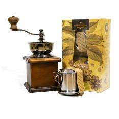 Cà Phê Chồn Arabica Nguyên Chất 100% Hương Mai Cafe Weasel Legend Coffee Gift Box (Oganic) – Thích Hợp Làm Quà Biếu Tặng Gồm 01 Gói Cà Phê Dạng Bột 250g + 01 Phin Inox Cao Cấp