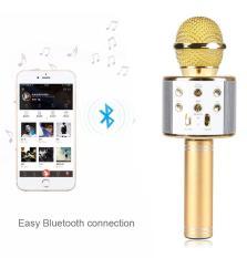 [TẶNG DÂY NỐI RA LOA NGOÀI 25K] Mic Hát Karaoke Bluetooth Không Dây WS858 – Âm vang – Ấm – mic hát karaoke cầm tay mini – micro hát trên xe hơi – mic hát karaoke hay nhất hiện nay