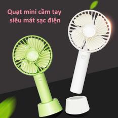 Quạt Sạc Tích Điện USB Mini Fan – Có Đế Siêu Tiện Lợi – Nhỏ Gọn, Quạt Pin Cầm Tay, Quạt Mini Fan Cầm Tay Kèm Pin Và Cáp Sạc