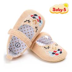 Giày tập đi cho bé gái từ 0 – 18 tháng tuổi chất vải mềm mịn êm chân an toàn cho làn da nhạy cảm của bé đi hoạ tiết hình cú đơn giản đáng yêu Baby-S – STD9