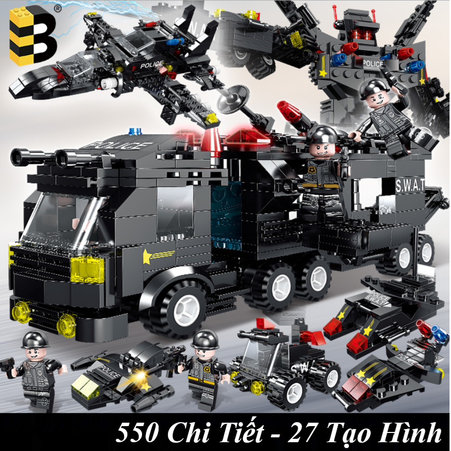 [550 CHI TIẾT] Bộ Đồ Chơi Xếp Hình Lego Chiến Hạm, Lego Tàu Thủy, Lego Tàu Chiến – Hàng Chuẩn