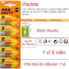 Pin 11A GP11A GP11A-C5 L1016 476A MN11 E11A PK5 CX21A WE11A G11A cho Điều khiển cửa cuốn Chuông cửa VAVTT 1 vỉ 5 viên