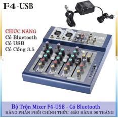 Bộ trộn âm thanh Mixer F4-USB có USB
