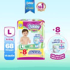 [Tặng 8 miếng] Tã quần Bobby mới L68 – Lõi nén thần kỳ 3mm – Siêu mỏng, khô thoáng