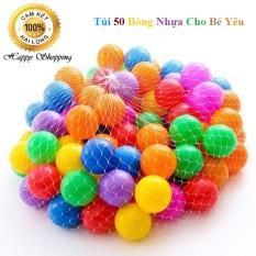Túi 50 Trái Bóng Nhựa Màu Sắc Cho Bé Yêu