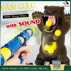 Đồ chơi ném gấu bằng dụng cụ chọi bông mềm nén khí, combo đồ chơi giải trí, an toàn cho bé, bảo hành 12 tháng, lỗi đổi mới trong 7 ngày đầu nhận hàng