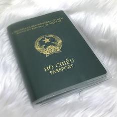 Bao hộ chiếu / passport trong, có khe đựng thẻ (Loại 1)