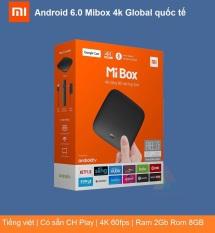 [BẢN Q TẾ] Xiaomi Mi Box 4K Global, đầu Android TV Box, tivi box, mibox, tv box xiaomi, Xiaomi mibox , Hỗ trợ tìm kiếm bằng giọng nói, có kèm điều khiển Kết nối Wifi, Bluetooth 4.2 | XIAOMI ECOSYSTEM STORE
