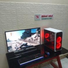 Bộ PC 6tr chiến FO4 LOL CF PUBG mobile Màn 32 inch Full HD bao phê