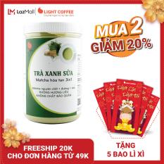 [MUA 2 GIẢM 20% + 5 BAO LÌ XÌ] Bột trà xanh sữa 3in1, matcha xuất xứ Nhật Bản, hũ 550g, từ nhà sản xuất Light Coffee