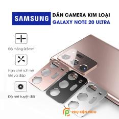 Dán camera Samsung Galaxy Note 20 Ultra khung kim loại bảo vệ an toàn camera sau 3 màu đen, bạc, vàng hồng