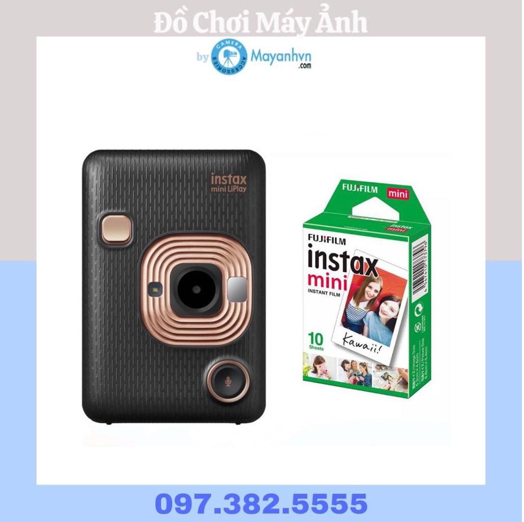 Máy Ảnh Lấy Liền Fùiilm Instax Mini LiPlay – Elegant Black (Chính Hãng)+ 1pack film/10 tấm ảnh