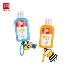 Set gel rửa tay khô kèm móc treo balo Hồng Hà Kids care+ 50ml 8202 (2 lọ gel rửa tay khô + 1 dây treo Silicone)