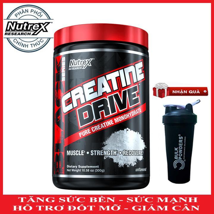 [TẶNG BÌNH LẮC] Creatine Drive của Nutrex hỗ trợ Tăng Sức Bền, Sức Mạnh đốt mỡ giảm cân 60 lần...
