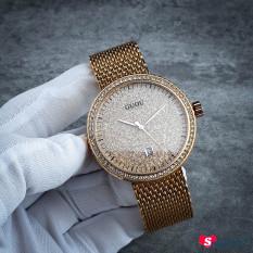 [Xả lỗ do dịch Corona] Đồng hồ nữ dây thép lưới GUOU CH337 (Mặt vàng)