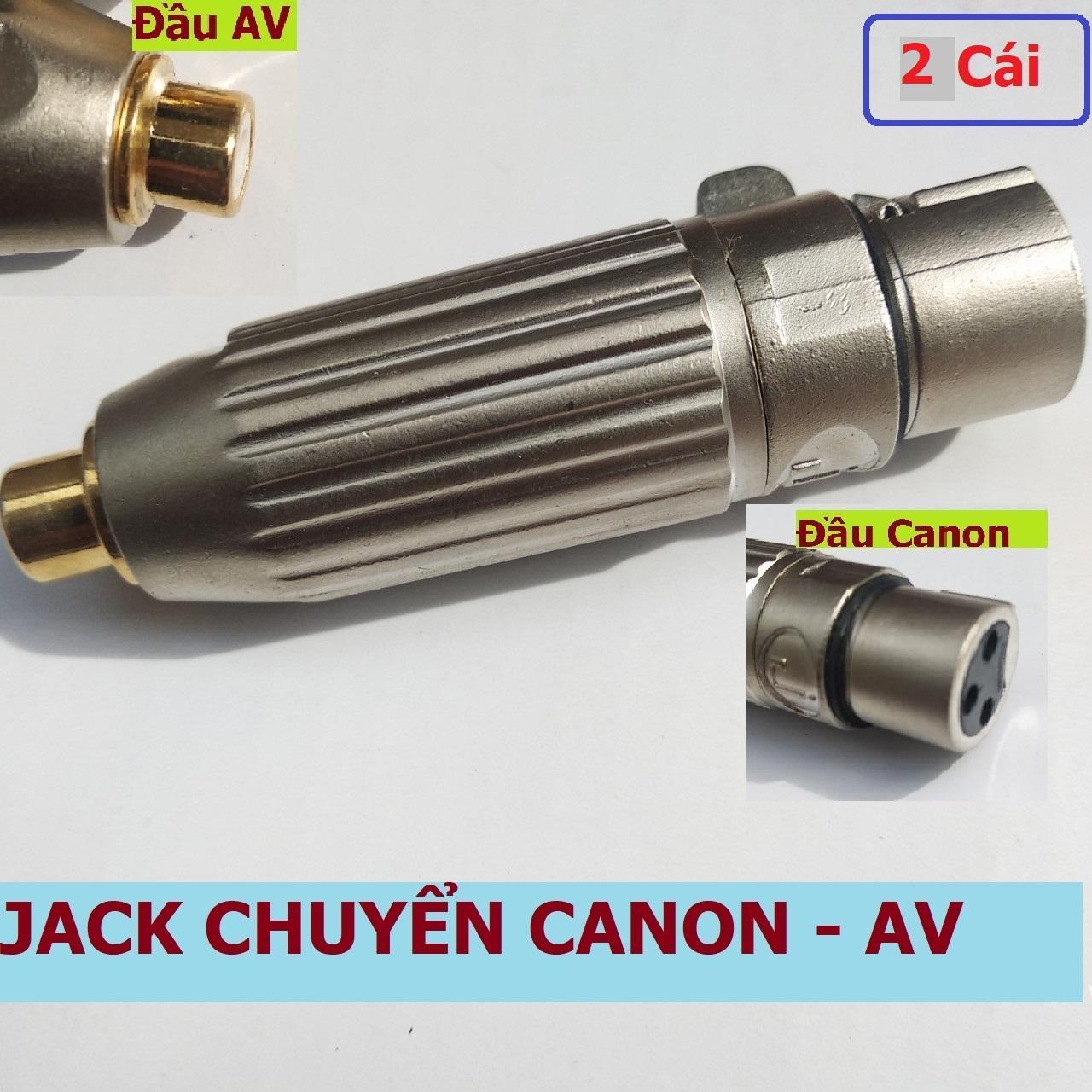 Jack chuyển Canon ra AV (Bông sen) hiệu chữ J thân hợp kim mạ niken, đầu AV mạ 24K (có...