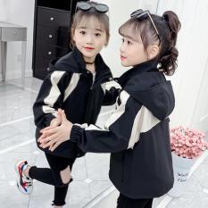 áo khoác BÉ GÁI Unisex phối sọc cá tính thiết kế xinh xắn form từ 13 – 40kg 0183