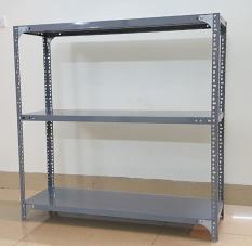 Kệ sắt v lỗ đa năng 3 tầng dài 0,8m x rộng 0,3m x cao 1m – Màu Xám