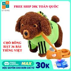 [ FREE SHIP-TIẾNG VIỆT] Chó bông biết hát tiếng việt, chó bông biết đi, lắc mông vẫy đuôi cho bé- Con chó đồ chơi, Đồ chơi cho bé – Niki Store