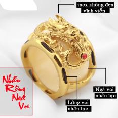 Nhẫn nam ngà voi nhân tạo mạ vàng 18k, hàng bao đep bán chạy, hãy chọn cho mình 1 chiếc về đeo, xuất xứ: Việt Nam