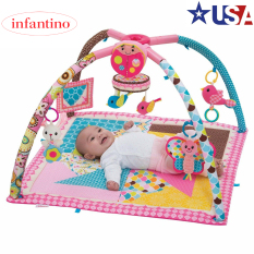 {Hàng xách tay US} Thảm nằm chơi cho bé sơ sinh có nhạc và đồ chơi phát triển trí tuệ Infantino Deluxe Twist & Fold 4in1 (USA)